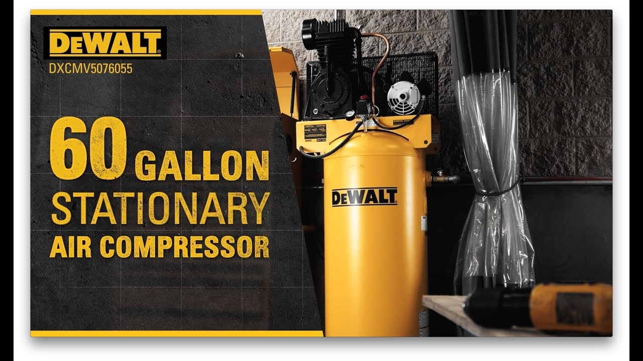 dewalt 60 gallon air compressor [ 1280 x 720 Pixel ]