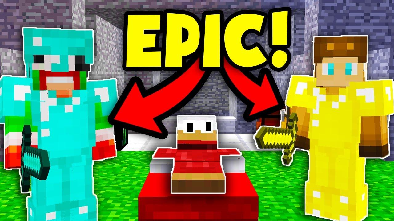 YOUTUBER MINECRAFT BEDWARS CHALLENGE!   Minecraft BED WARS ...