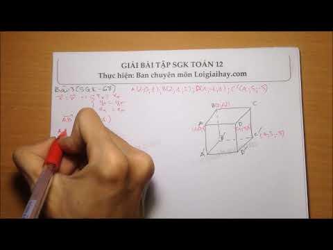Giải bài tập 3 Trang 68 SGK Hình học 12