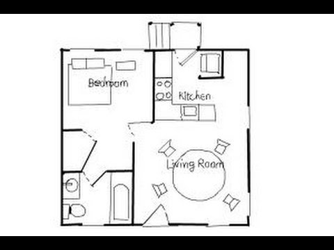 How to draw house plans floor plans youtube for Sketch plan for 2 bedroom house