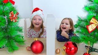 TELEPATIE POM de CRACIUN Challenge Twin Telepathy Christmas Tree Challenge