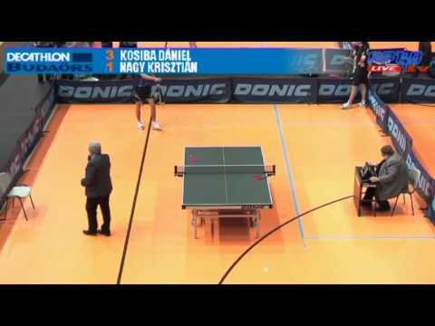 Asztaltenisz pingpong TOP12 férfi döntő Kosiba Dániel vs Nagy Krisztián
