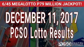 PCSO Lotto Results Today December 11, 2017 (6/55, 6/45, 4D, Swertres, STL & EZ2)