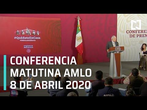 Conferencia matutina AMLO/ 8 de abril 2020