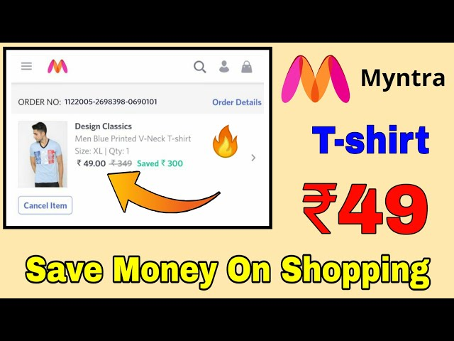 How To Save Money On Online Shopping - T-shirt at Rs. 49/-    Save Money On Online Shopping