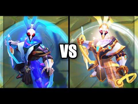 Pulsefire Thresh vs Prestige Pulsefire Thresh Skins Comparison (League of Legends)
