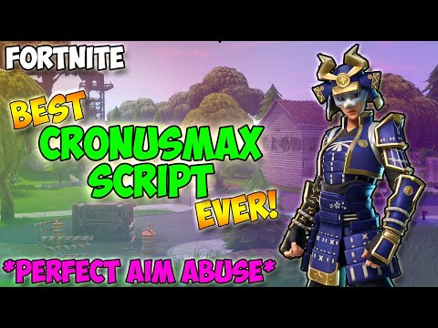 Fortnite - Cronusmax PERFECT AIM ABUSE Cronusmax Best Fortnite Script, Best Aim Abuse (Cronusmax)