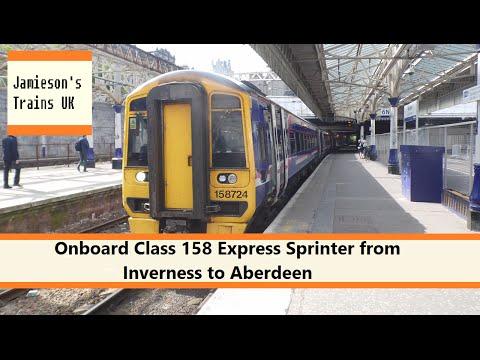 Onboard Class 158 Express Sprinter from Inverness to Aberdeen
