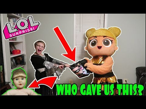 LOL Surprise In Real Life Halloween Candy Scavenger Hunt! Strange Doll Given To Us Trick Or Treating
