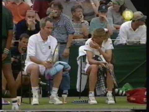 1999 Wimbledon Mixed Doubles 2nd Round Steffi Graf John McEnroe