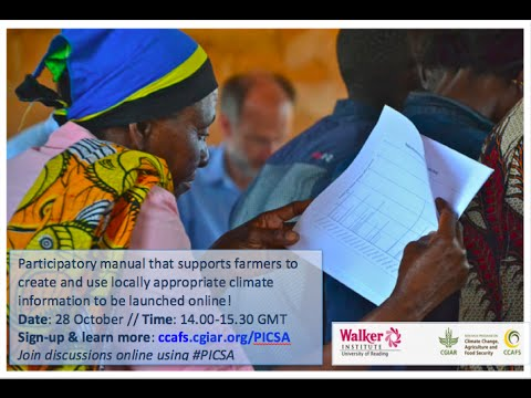 Online Launch of the Participatory Climate Information Services for Agriculture Manual