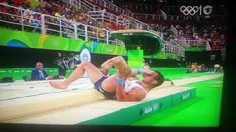 Olympia 2016 Beinbruch beim Turnen