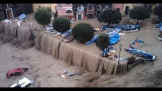 Incredible Flash #Flood #Alluvione in Genova, Italy 09 10 2014