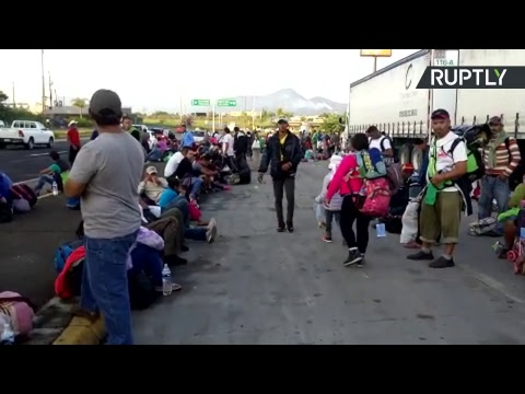 Migrants gather in east Mexico on way to US border