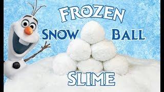 DIY NEW SNOWBALL SLIME!  Testing My Frozen Inspired Slime Recipe!