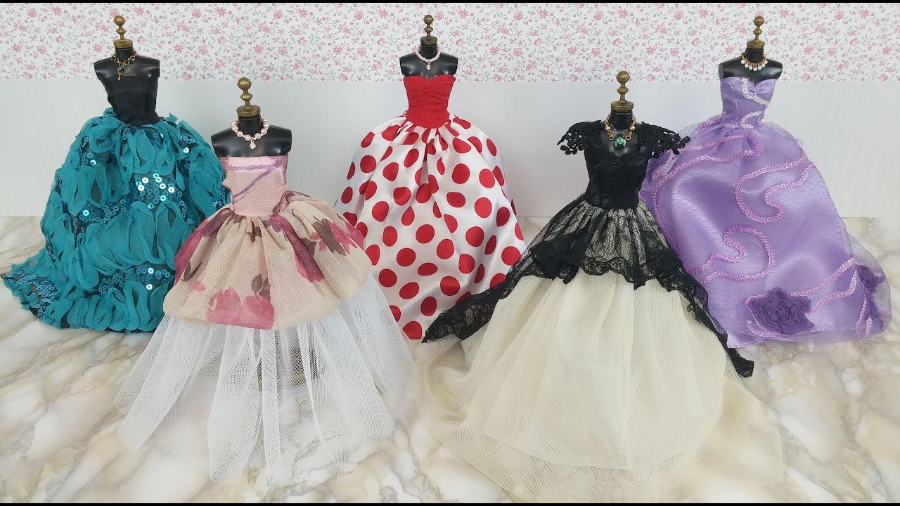 Hypermoderne Elsa Anna Dress Barbie Doll Dressバービーエルサ人形 ドレス服 IN-32