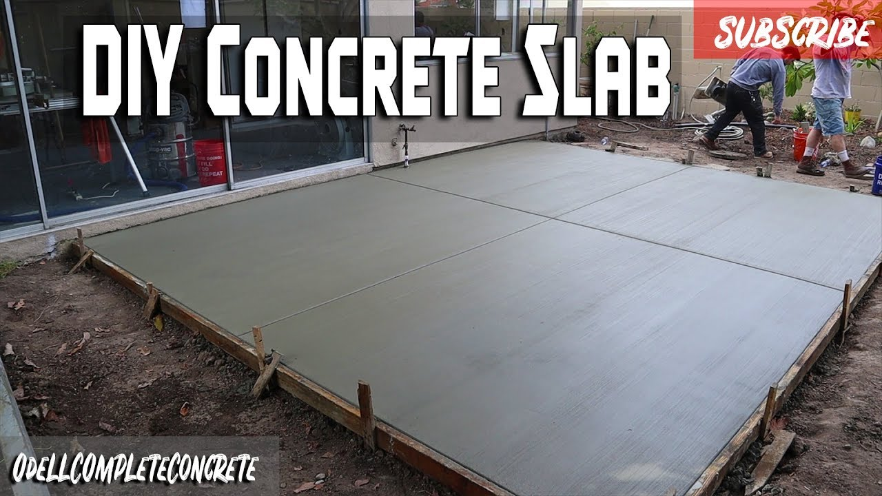 how to pour a concrete backyard patio slab beginner guide