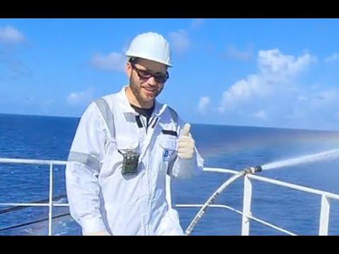 Vetting Inspection on Deck, Oil Tanker