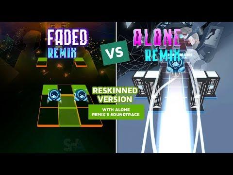 Rolling Sky Alone Remix VS Faded Remix (ReSkinned Version) Alan Walker