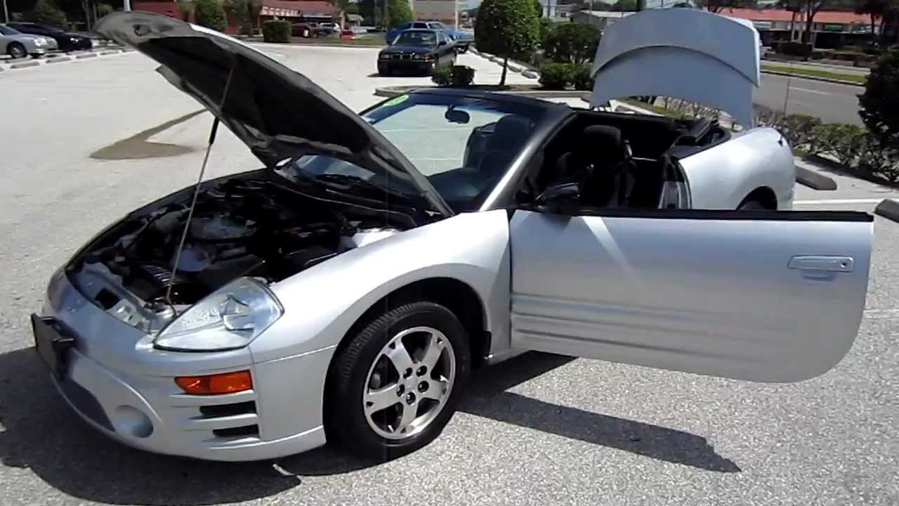 SOLD 2003 Mitsubishi Eclipse GS Spyder Convertible 87K Miles Mint  Meticulous Motors Florida For Sale   YouTube