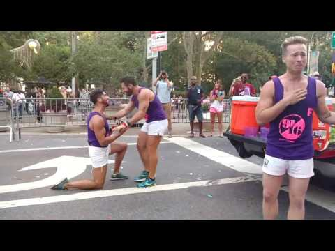 FLAGGOTS NYC 2016 Marriage proposal and