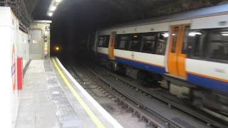 London Overground Class 378 arriving at Wapping