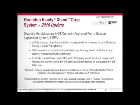Webinar: Managing RR2Xtend Soybeans in 2016 and Beyond