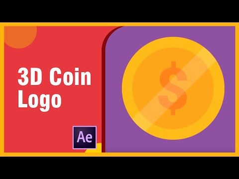 3D Coin Logo Animated Rotating - After Effects Tutorial | Coin Logo Rotating 360º in After Effects