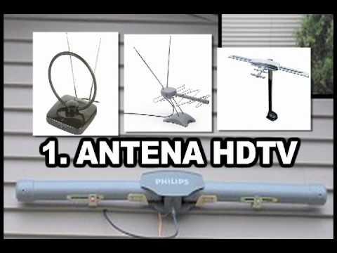 Antena hdtv como sintonizar gratis mas de 130 canales for Antenas de tv interiores