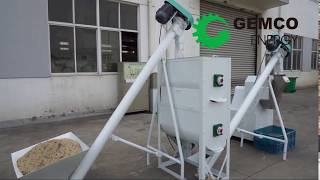 How does the feed pellet mill …