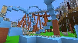 RIDING BUSCH GARDENS' CRAZY ROLLER COASTERS! - Minecraft: LIVE!