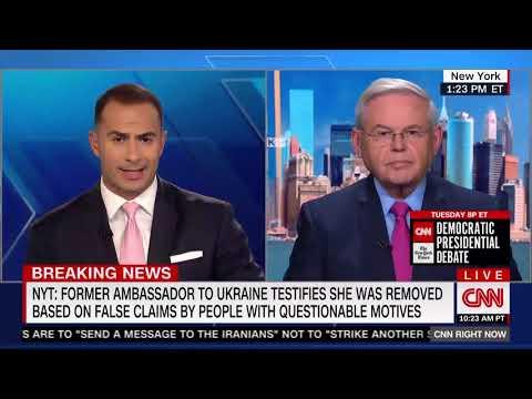 Menendez Reacts to Testimony of Dismissed Ukranian Ambassador