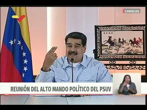 Presidente Maduro en reunión con Alto Mando Político del PSUV, 27 mayo 2019