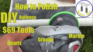$69 DIY How to Polish a Quartz, Granite or Marble Countertop Bullnose or Square Edge profile.
