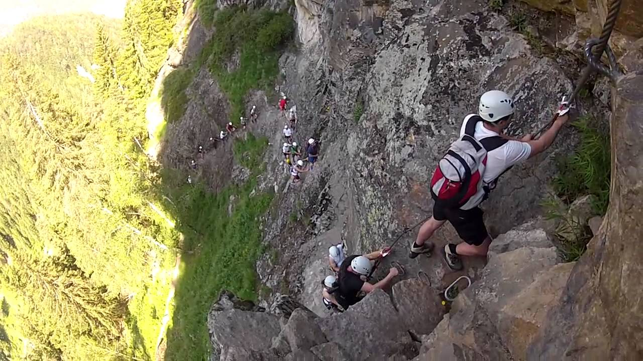 Klettersteig Tirol : Klettersteig stuibenfall tirol Österreich mit outdoorplanet