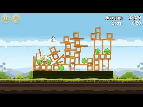 Прохождение Angry Birds Глава 2 (живой коммент от kidmoteen) Ч. 1