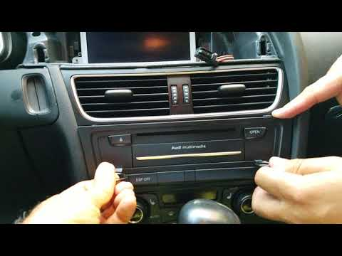 How to Remove Display / Multimedia Player from Audi A5 2010 for Repair.