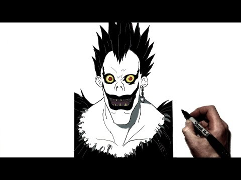 How To Draw Ryuk | Step By Step | Death Note