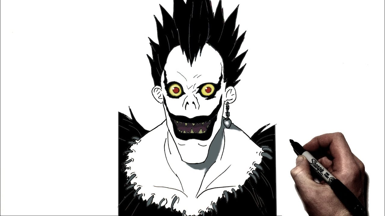 How To Draw Ryuk | Step By Step | Death Note - YouTube