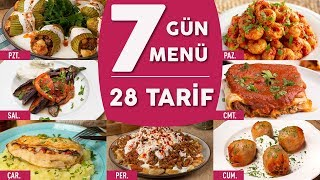 Bugün Ne Pişirsem #1: 7 Güne 7 Ayrı Menü Hazırladık! (28 Tarif) - Yemek Tarifleri