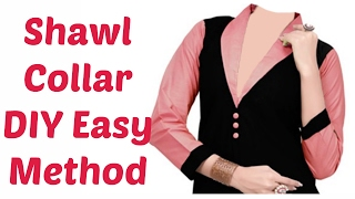 Shawl Collar - DIY Easy Method