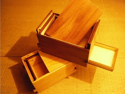 Beautiful wooden puzzle box (hard to open)