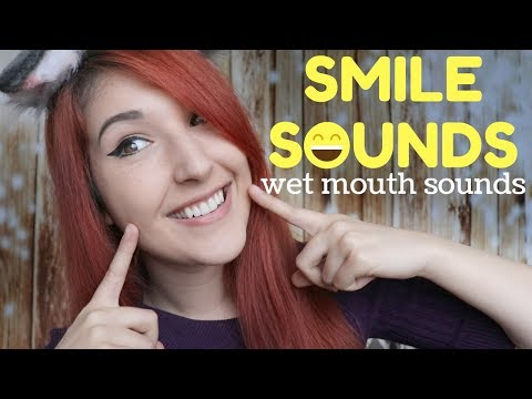 ASMR - SMILE SOUNDS ~ Smiling Loudly in Your Ears! | The Happiest Wet Mouth Sounds ~