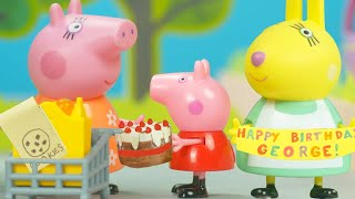 Peppa Pig's Surprise Party At The Super Store | Peppa Pig Stop Motion | Peppa Pig Toys