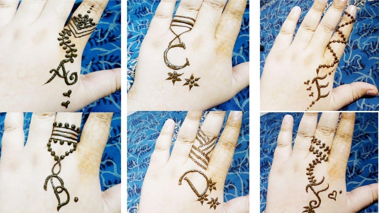f256c0606 Alphabet Tattoo Mehndi Design | A,B,C,D,E,F Tattoo Mehndi Design ...