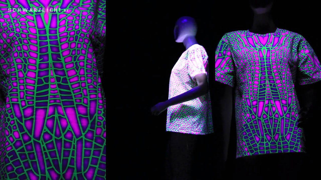 Schwarzlicht T-Shirts --- Blacklight T-Shirts - YouTube