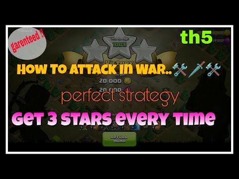 TH5 WAR ATTACKING STRATEGY | 3 STARS EVERY TIME | HINDI TECH ROOM