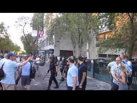 Spanish Police Attack Manchester City Fans
