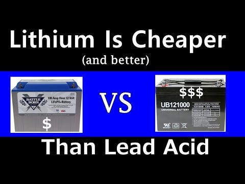 Solar Lithium Batteries ARE CHEAPER Than Lead Acid! Proof Included