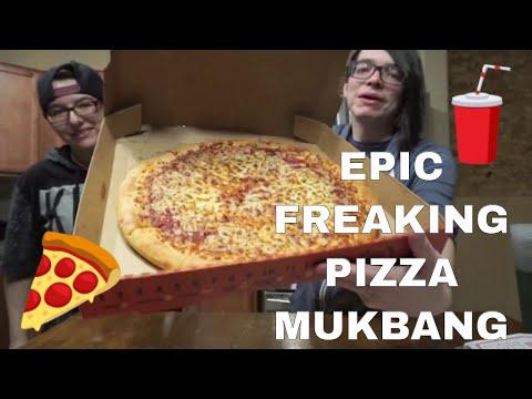 Pizza Hut vs Domino's vs Papa John's vs Little Caesar's Mukbang Eating Show | PIZZA TASTE TEST!